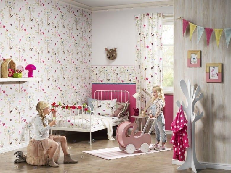 Gartenparty pink Kindertapeten - Rasch Papiertapete