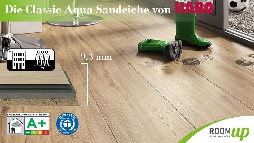 Raumbild - Designboden Classic Aqua Sandeiche von Haro