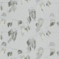 Vorschau: Blätter Grau - Rasch Vlies-Tapete Floral