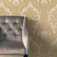 Vorschau: Floral gold - Rasch Vlies-Tapete
