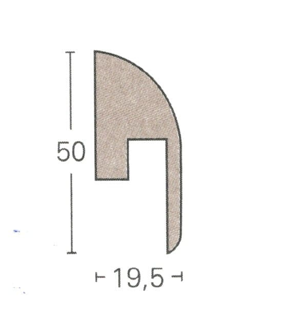 SL2 - Parador Laminat Sockelleisten (4,55€/lfm)