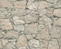 Vorschau: Mauer Grau Steinoptik- A.S. Creation Vlies -Tapete