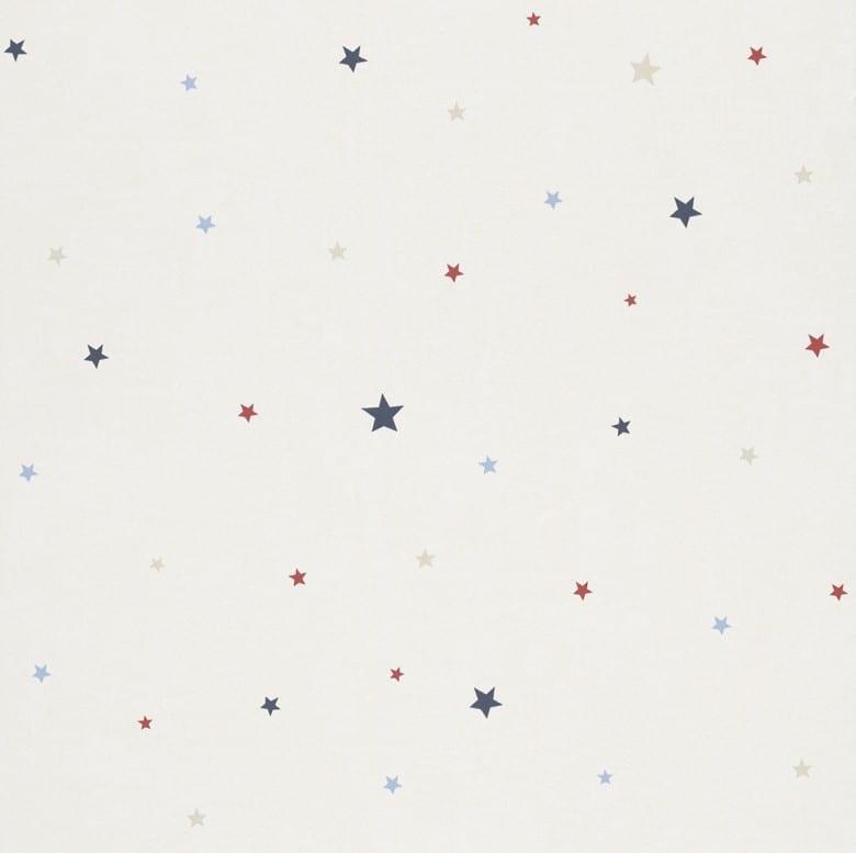 Sternchen blau Kindertapeten  - Rasch Papiertapete