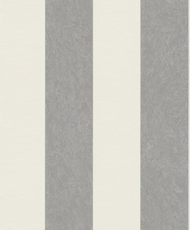Tapete Barock Beige Grau    - Rasch Vlies - Tapete Streifenmuster