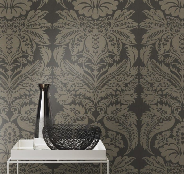 Floral Barock Dunkel - Rasch Vlies-Tapete
