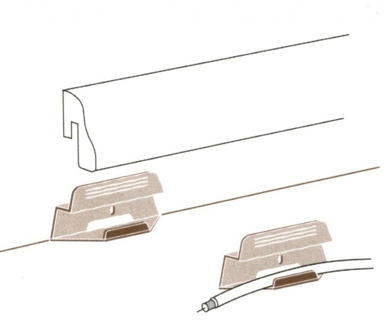 Parador Leistenclip für Sockelleiste SL3