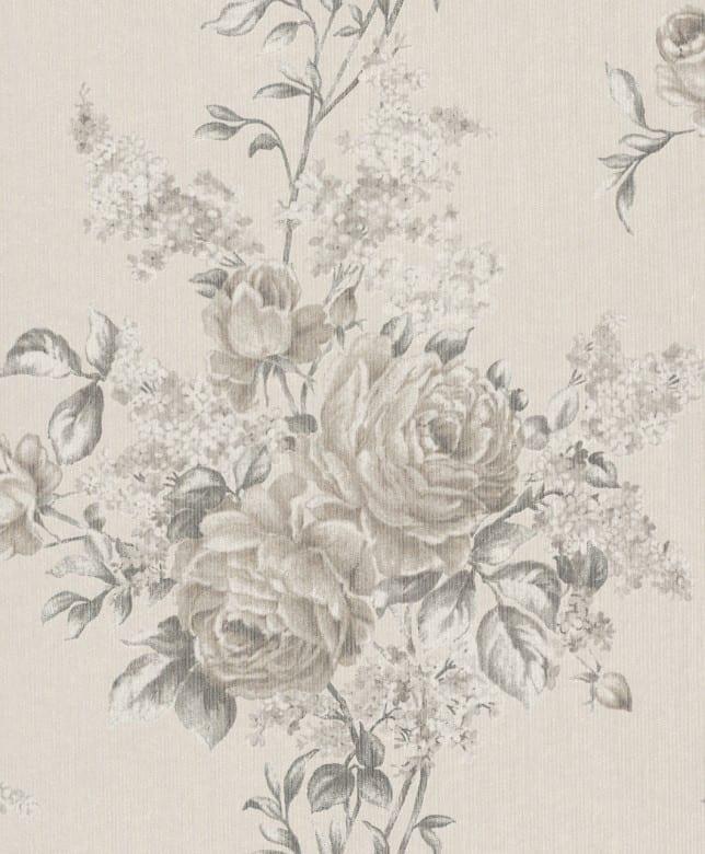 Floral Rose creme - Rasch Vlies-Tapete