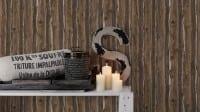 Vorschau: Brown Used Holzoptik- A.S. Creation Vlies -Tapete