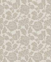 Vorschau: Tapete Barock Dunkelbeige - Rasch Vlies - Floralprint