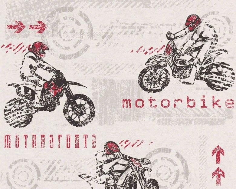 Motorbike rot Kinderwelt - A.S. Creation Papier-Tapete