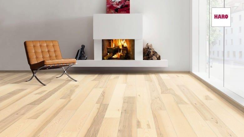 esche lichtwei universal strukturiert 2v haro parkett landhausdiele serie 3500. Black Bedroom Furniture Sets. Home Design Ideas