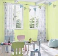 Vorschau: Grün Gestreift - Rasch Papier Kindertapete