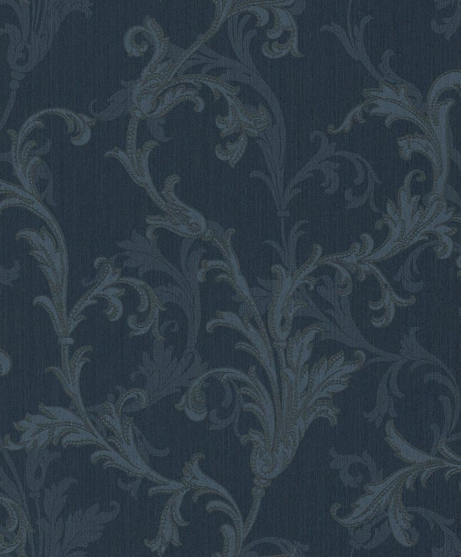 Charlotte blau - Rasch Vlies-Tapete Barock