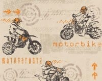 Vorschau: Motorbike orange Kinderwelt - A.S. Creation Papier-Tapete