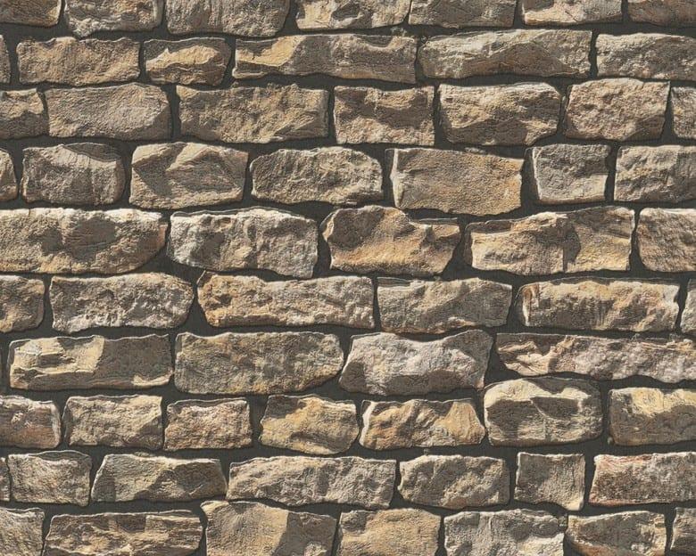 Stone Wall Brown Steinoptik- A.S. Creation Vlies -Tapete