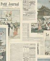 Vorschau: Zeitungspapier - Rasch Vlies-Tapete Fototapete