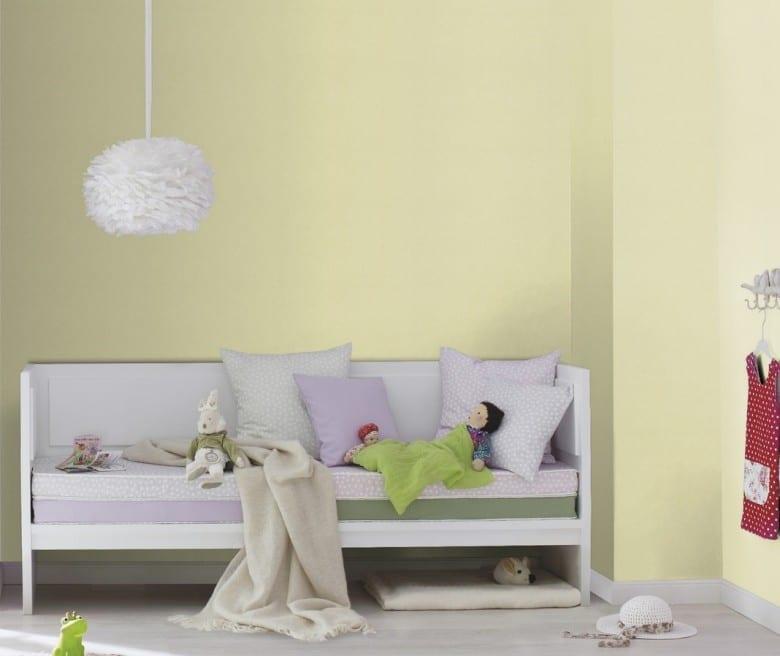 Zartes Grün mit weißen Pünktchen - Rasch Papier Kindertapete