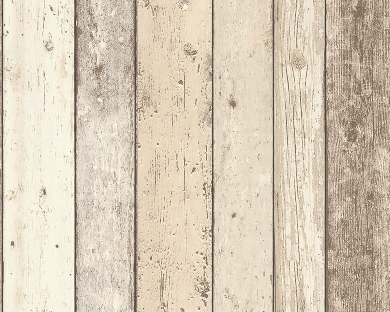 Beige Streifen Holzoptik- A.S. Creation Vlies -Tapete