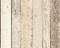 Vorschau: Beige Streifen Holzoptik- A.S. Creation Vlies -Tapete
