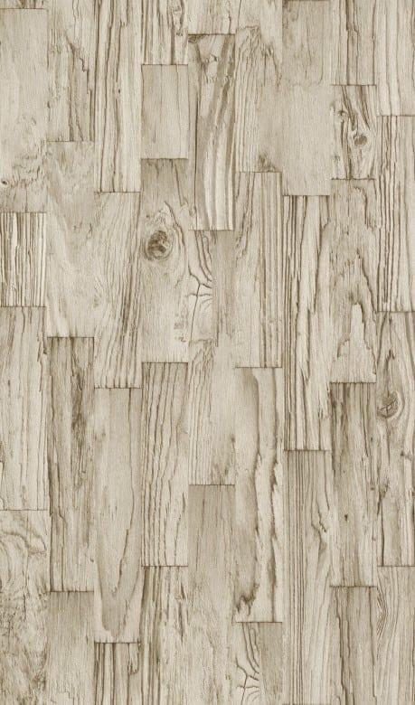 Treibholz Beige - Rasch Vlies-Tapete Holzoptik