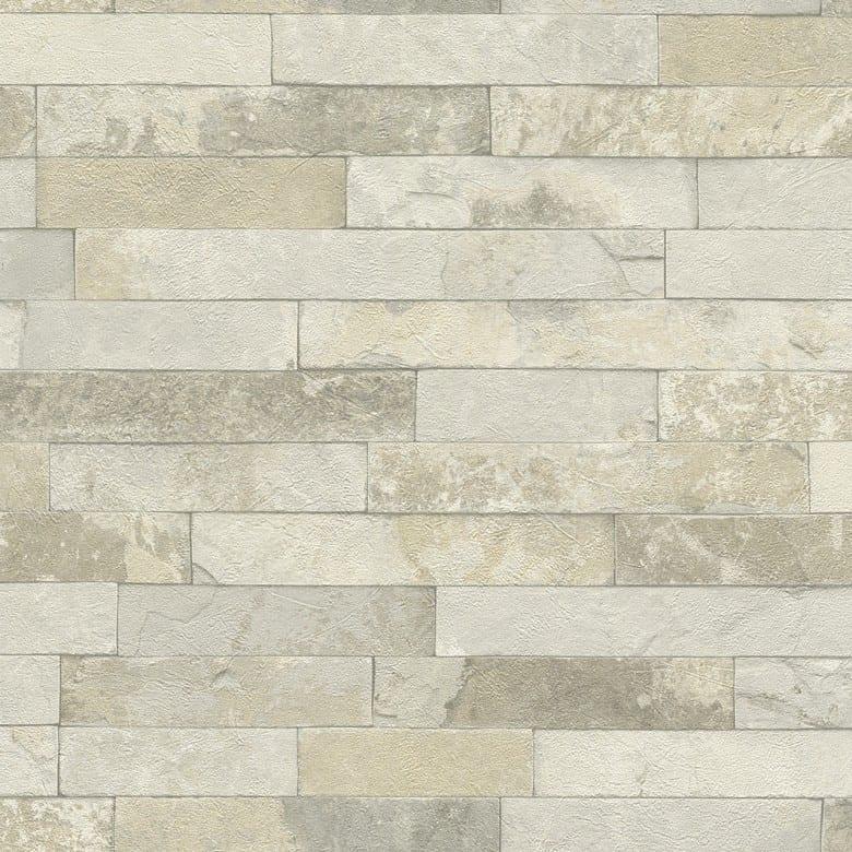 Ziegelmauer Creme - Rasch Vlies-Tapete Steinoptik