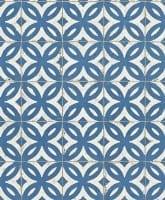 Vorschau: Fliesenornamente Blau - Rasch Vlies-Tapete Fototapete