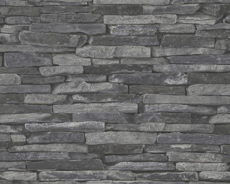 Stone Wall Dark Steinoptik- A.S. Creation Vlies -Tapete