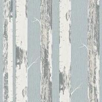 Vorschau: Birkenstamm Blau - Rasch Vlies-Tapete Holzoptik
