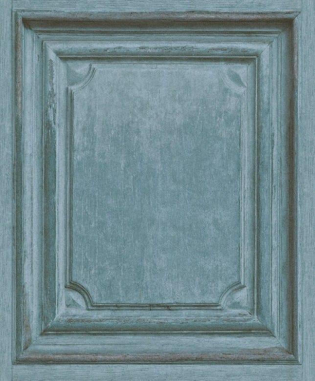 Holzoptik Blau - Rasch Vlies-Tapete Fototapete