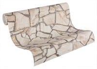 Vorschau: Rosa Mediterran Steinoptik- A.S. Creation Vlies -Tapete