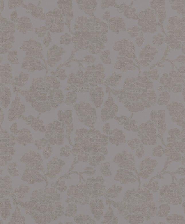 Tapete Barock Lila Grau - Rasch Vlies - Floralprint