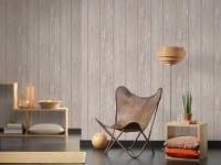 Vorschau: Grau Rustikal Holzoptik- A.S. Creation Vlies -Tapete