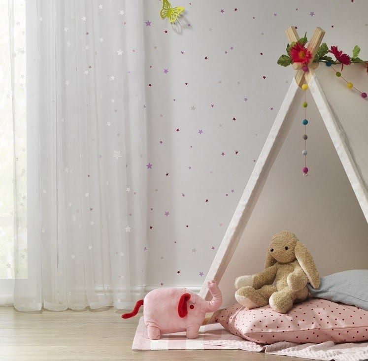 rasch tapeten kinderzimmer sterne. Black Bedroom Furniture Sets. Home Design Ideas