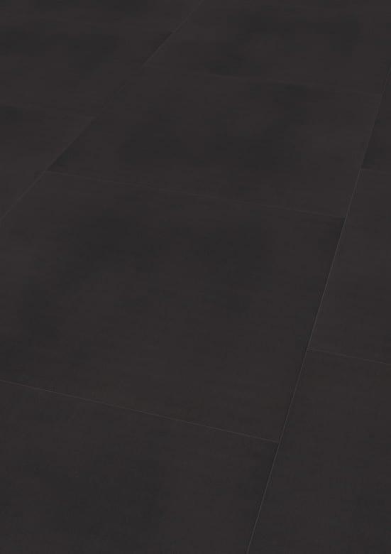 Solid Black - Wineo 800 Tile XXL Vinyl Fliesen zum Kleben