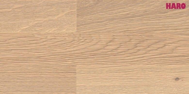 Eiche weiß Terra - Haro Parkett Retro strukturiert Serie 4000