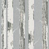Vorschau: Birkenstamm Grau - Rasch Vlies-Tapete Holzoptik