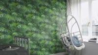 Vorschau: Palmen Grün - Rasch Vlies-Tapete Fototapete