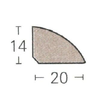 Viertelstab - Parador Laminat Sockelleisten (1,40€/lfm)