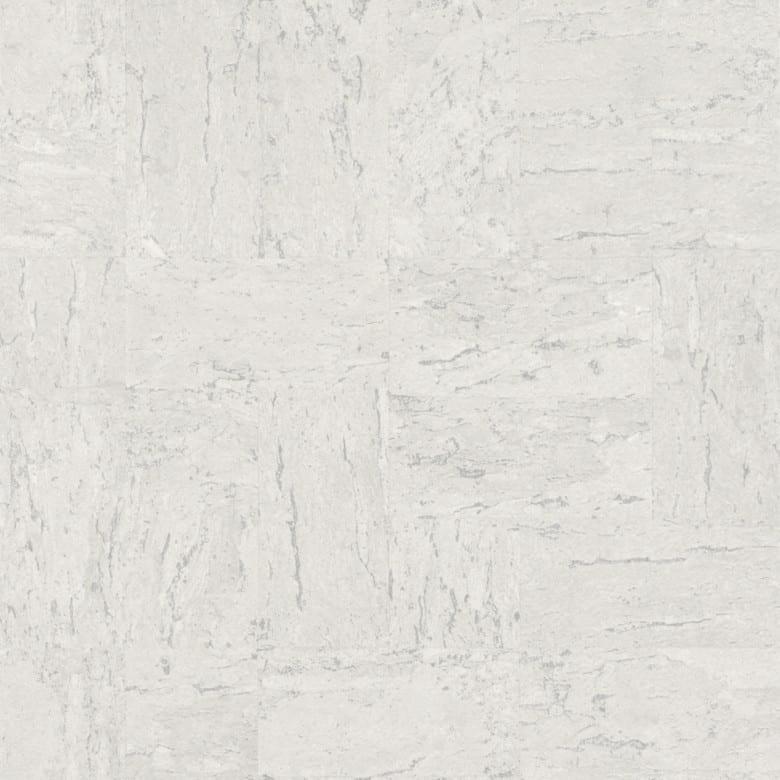 Kork Weiß - Rasch Vlies-Tapete Holzoptik