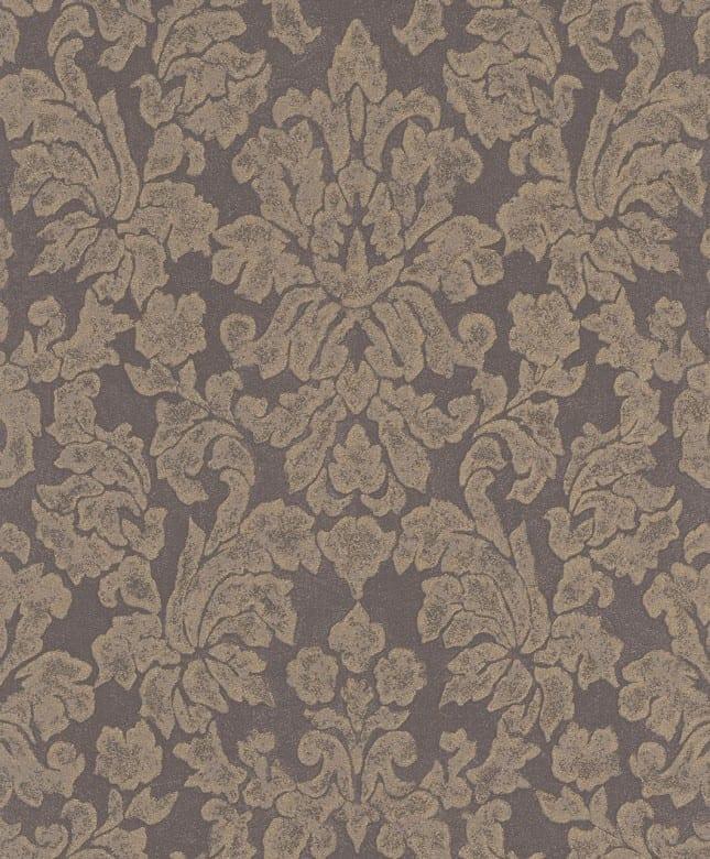 Tapete Barock Grau Beige - Rasch Vlies - Floralprint