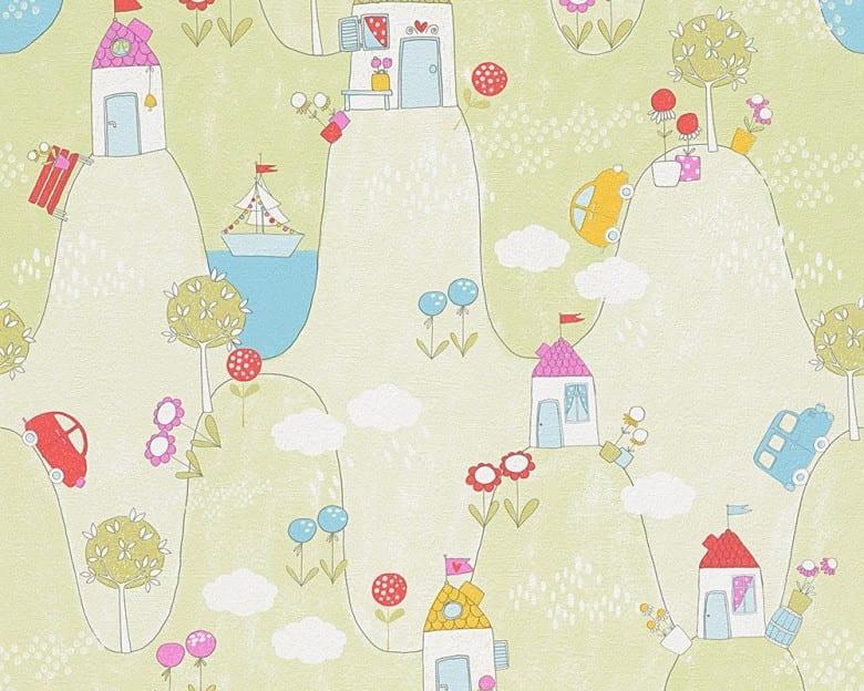 Wunderland grün Kinderwelt - A.S. Creation Papier-Tapete