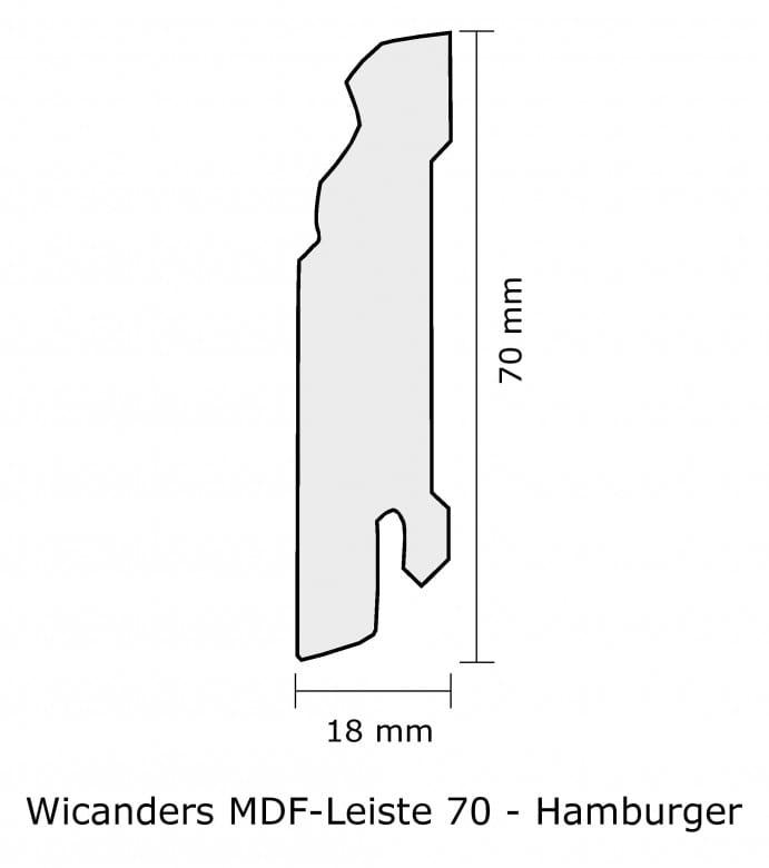 Wicanders MDF-Leiste 70 Sockelleiste_Hamburger