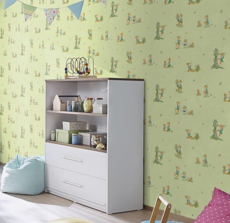 Pipas Waldfreunde Grün - Rasch Papier Kindertapete
