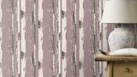 Vorschau: Birkenstamm Lila - Rasch Vlies-Tapete Holzoptik