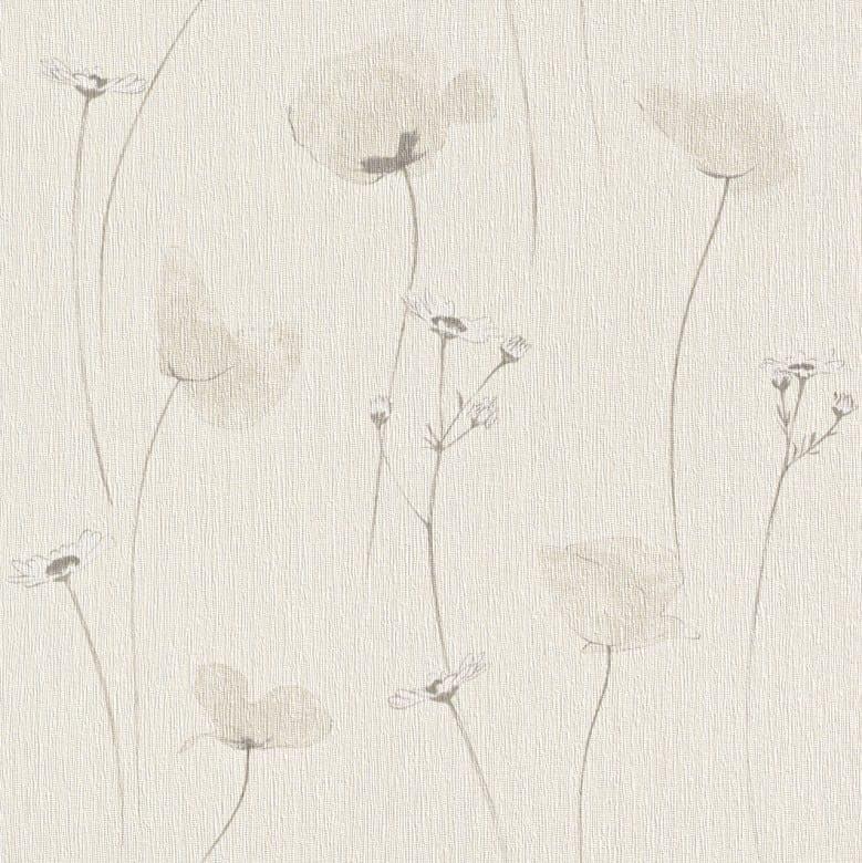 Mohnblume Hell - Rasch Vlies-Tapete Floral