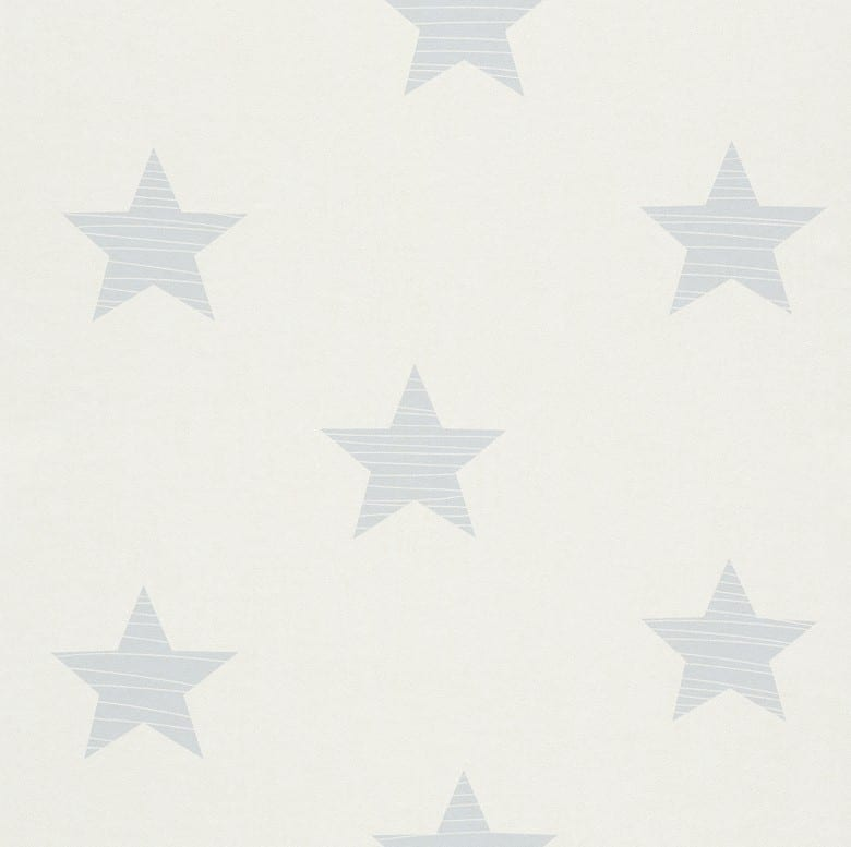 Sterne Hellblau - Rasch Papier Kindertapete