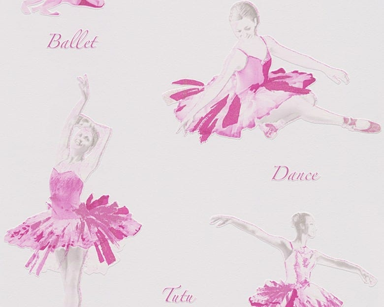 Ballerina pink Kinderwelt - A.S. Creation Papier-Tapete