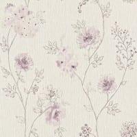 Vorschau: Blüten Rosa - Rasch Vlies-Tapete Floral