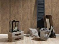 Vorschau: Braun Rustikal Holzoptik- A.S. Creation Vlies -Tapete