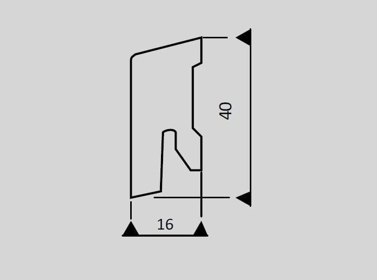 Digital bedruckte Fußbodenleisten 2500x40x16mm (ab4,75€/lfm) - Ziro